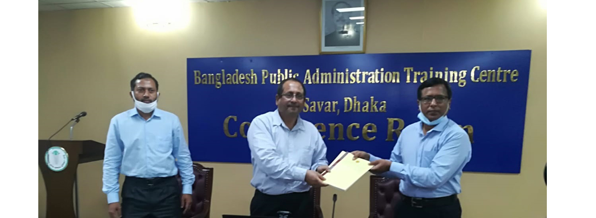 APA signing program with RPATC, Rajshahi in BPATC